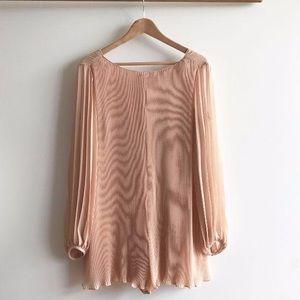 Zara Pleated Pink Jumpsuit